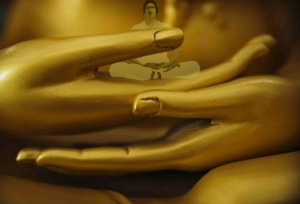 Golden buddha hands