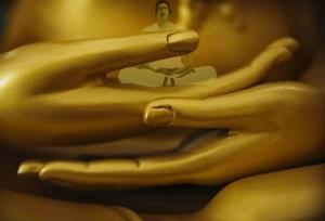 Golden buddha hands